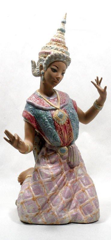 "835: Lladro ""Tai Dancer"" Porcelain Figurine"