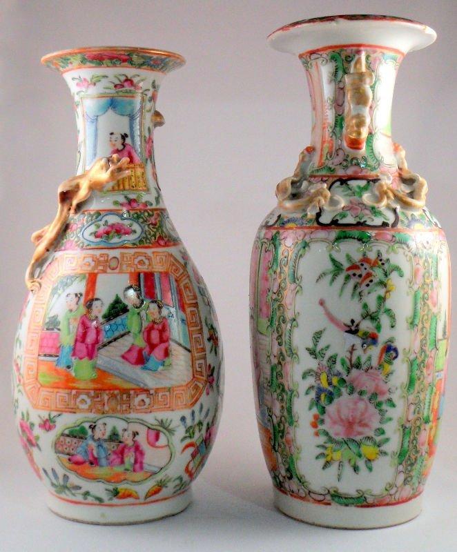 843: Chinese Rose Medallion Vases (Two)
