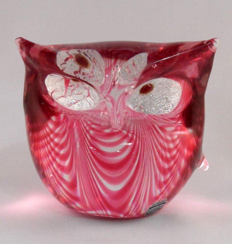 849: Gino Cenedese Murano Glass Owl