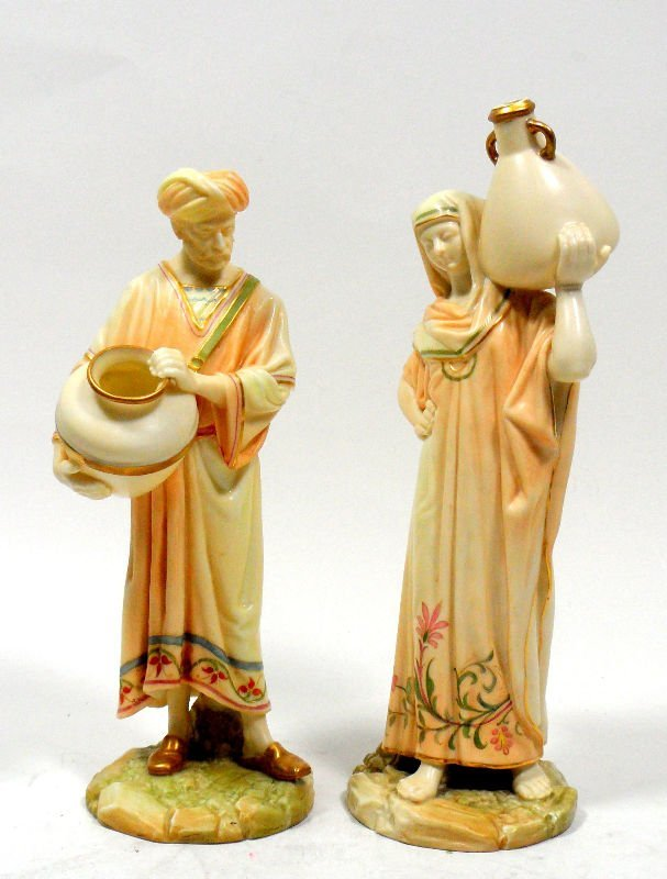"""803A: Royal Worcester Figurines """"Cairo Water Carriers"""""""
