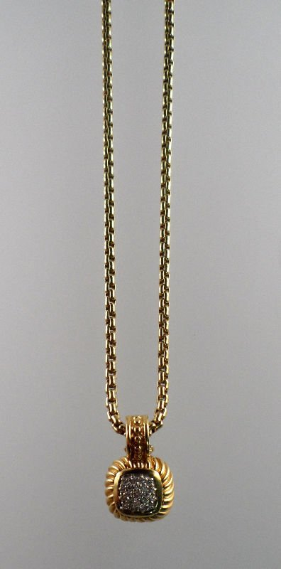 810A: 18 KT Yellow Gold & Diamond David Yurman Necklace