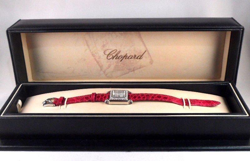 "825A: Chopard ""Happy Sport"" Diamond Watch"