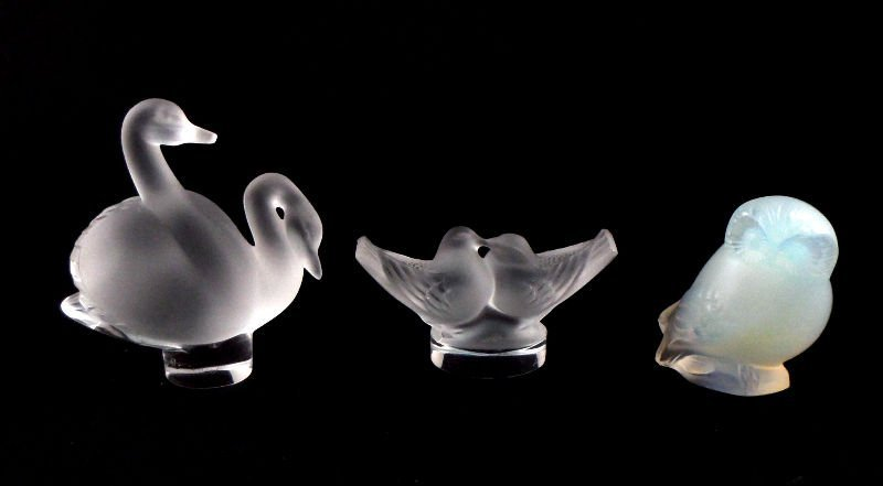 804A: Collection of Lalique France Crystal Birds (3)