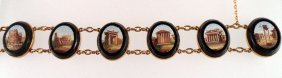 Antique Micromosaic (6) Medallion Bracelet