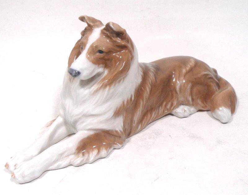 834A: Royal Copenhagen Porcelain Figure of A Collie
