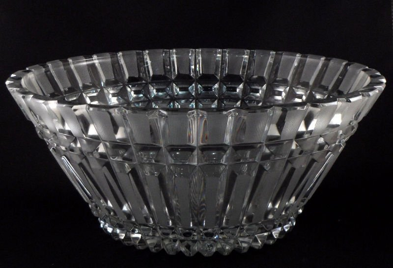 8: Russian Handmade Crystal Bowl w/USSR Label