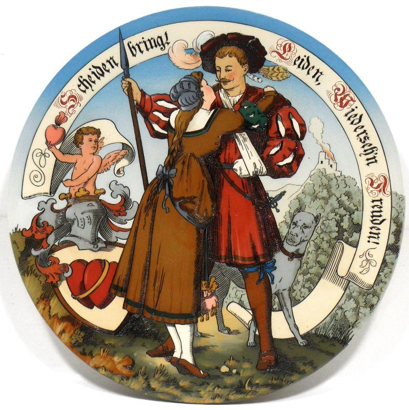 9: Mettlach German Porcelain Charger