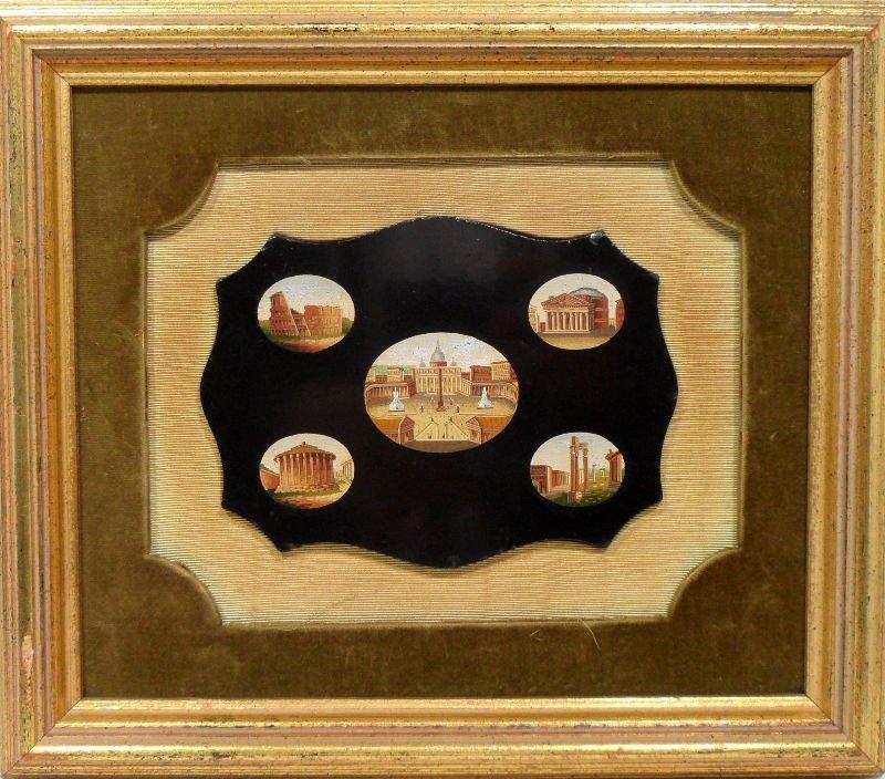 14: Important Italian Micro Mosaic Plaque