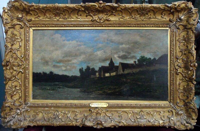 144: Charles Francois Daubigny (Fr. 1817-1878) Painting