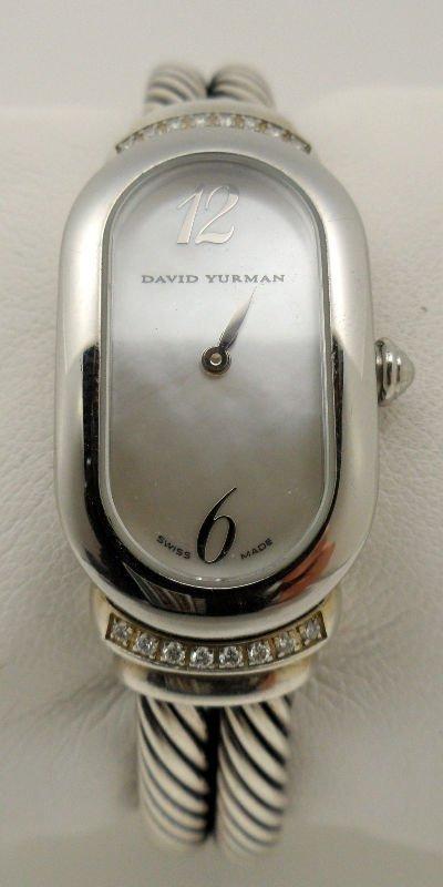 6A: david Yurman Diamnd & Mother of Pearl Watch