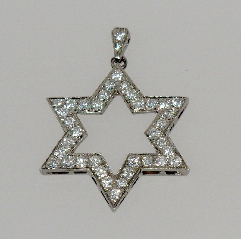 9A: 2 ct Diamond Star  of David Pendant