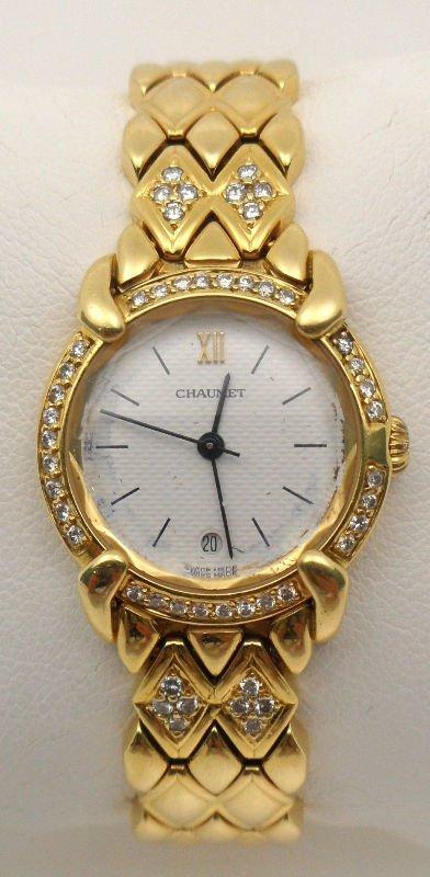 12A: Chaumet Elysees Diamond 18 kt Gold Watch