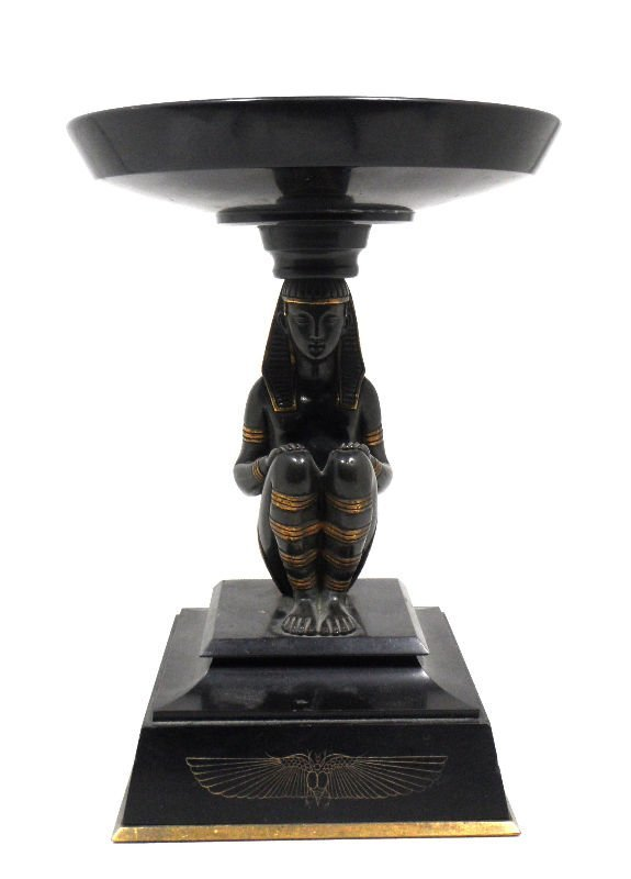 317: Bronze and Marble Egyptian Tazza