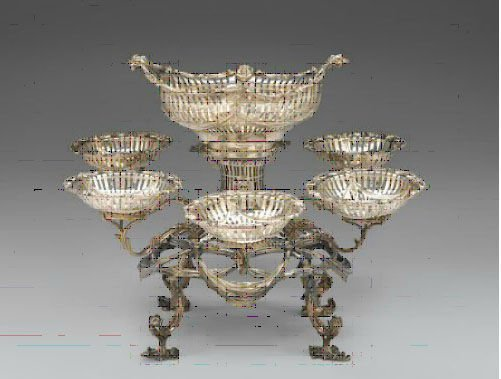 396: Fine George III Silver Six Branch Epergne
