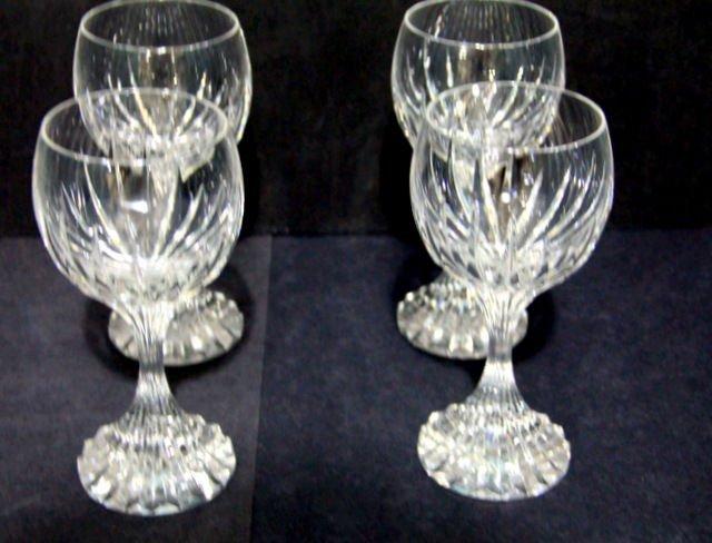 1: Baccarat Crystal Massena Water Goblets (4)