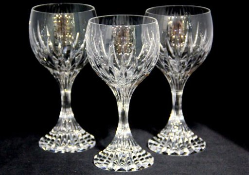 d9c9417c62d 5: Baccarat Crystal Massena Wine Glasses (3)