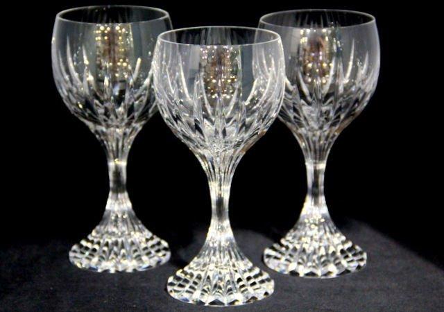 5: Baccarat Crystal Massena Wine Glasses (3)