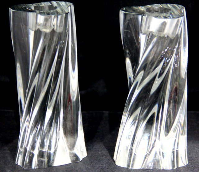 """7: Baccarat Crystal 6"""" Candlestick Holders (Pair)"""