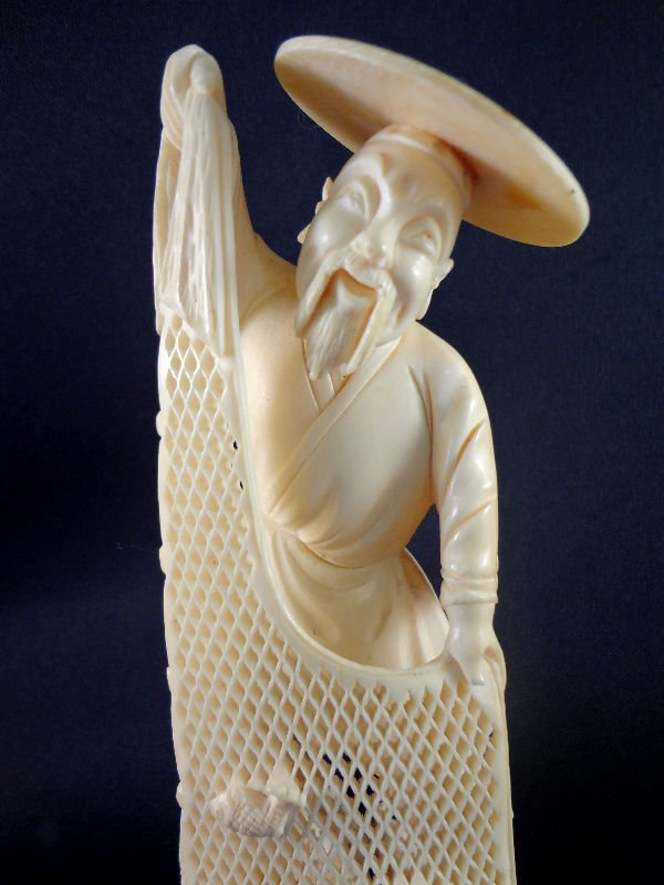 305: Chinese Carved Ivory Fisherman