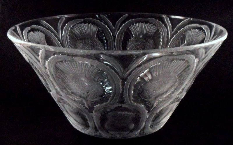 308: Lalique Crystal Thistle Bowl