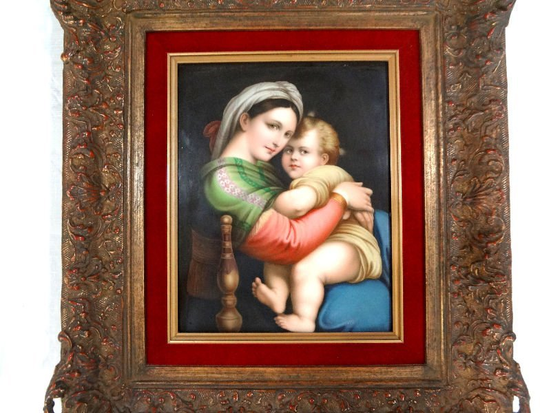 "310: KPM ""Madonna and Child After Raphael"" Plaque"