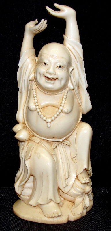 512: Chinese Ivory Happy  Buddha Figure
