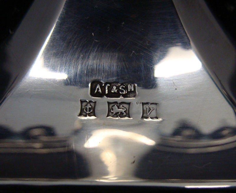 514: English Silver Menorah - 8