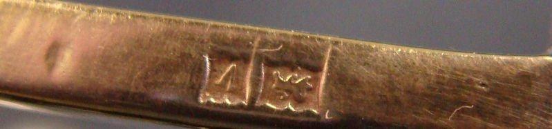 514: English Silver Menorah - 9