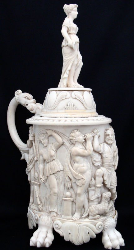 592A: 19th Century Continental Ivory Tankard