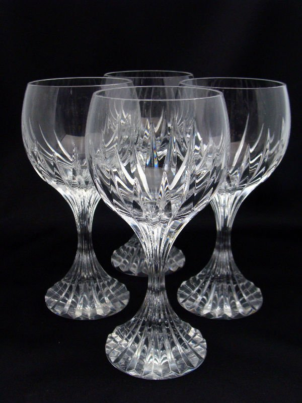 801: 4 Baccarat Crystal Messena White Wine