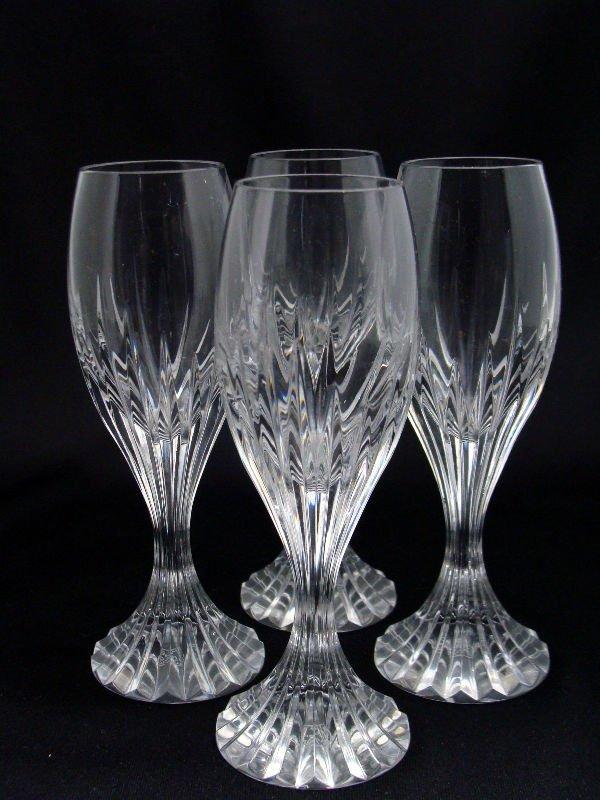 802: 4 Baccarat Crystal Messena Cordials