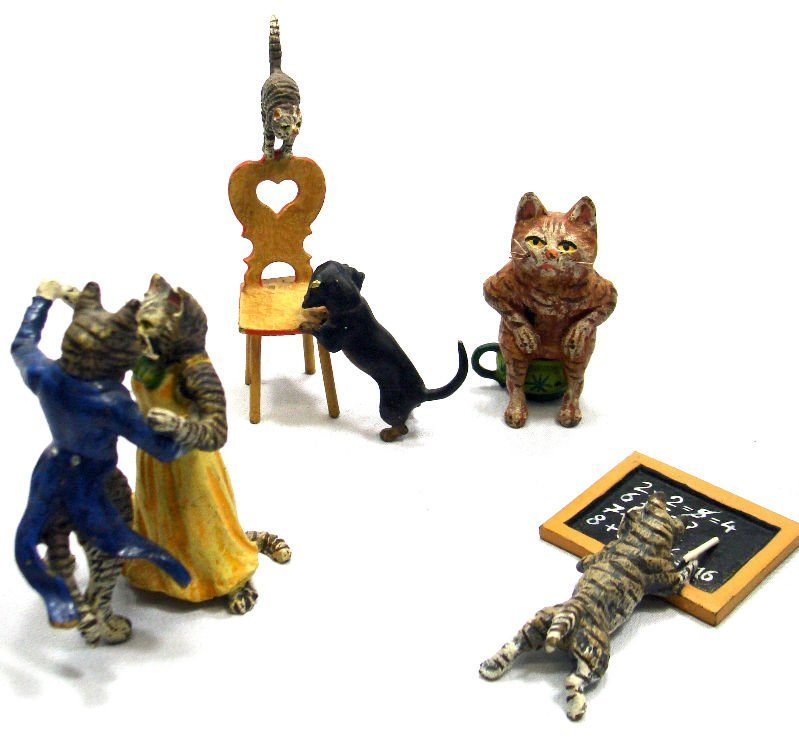 3: 4 Vienna Bronze Miniature Animals