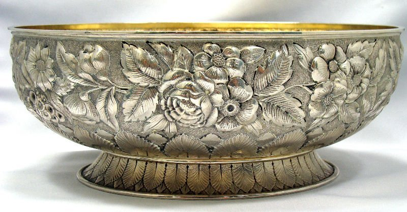 11: Whiting MFG Sterling Oval Footed Bowl