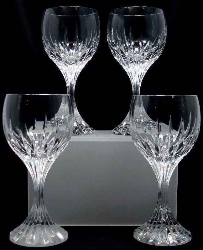 14: 4 Baccarat Crystal Messena Goblets