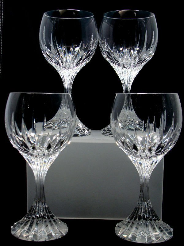 15: 4 Baccarat Crystal Messena White Wine