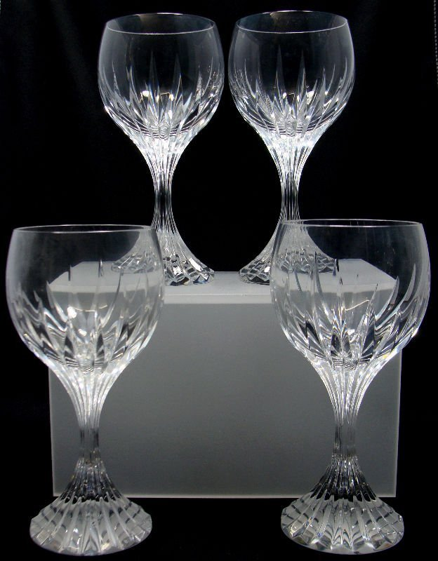 16: 4 Baccarat Crystal Messena Red Wine