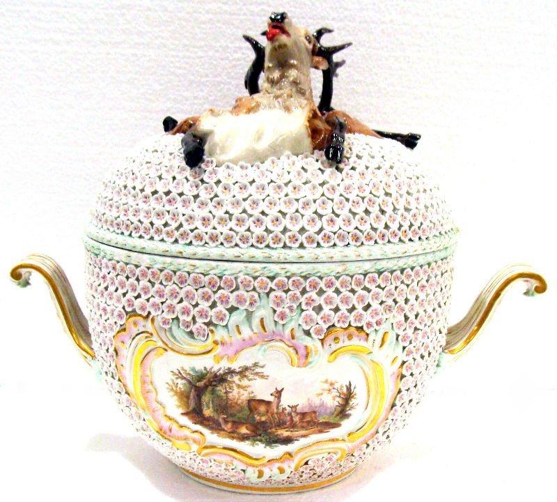 20: Meissen Figural Soup Tureen