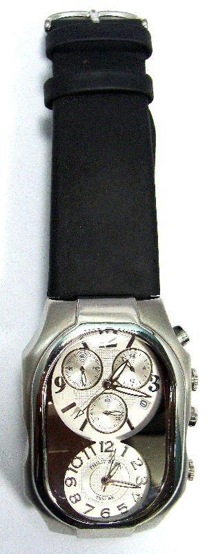 5A: Phillip Stein Stainless Quartz Dual Dial Watch