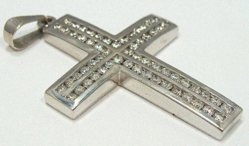 15A: 14Kt WG 2.5Ct Diamond Cross