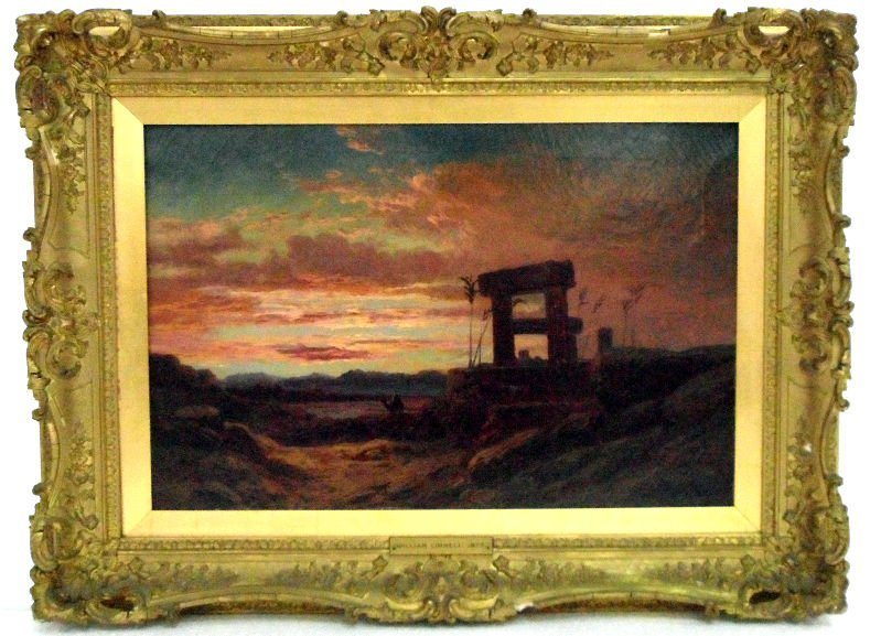 803: William Linnell Oil Painting On Canvas