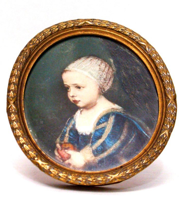 815: Miniature Painting On Ivory Of A Child