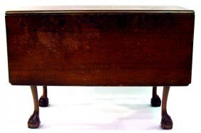 600: Chippendale Ball & Claw Flip Top Table