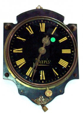 609: French Brass Wall Clock
