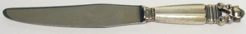 635: 92pc Georg Jensen Acorn Sterling Flatware - 6