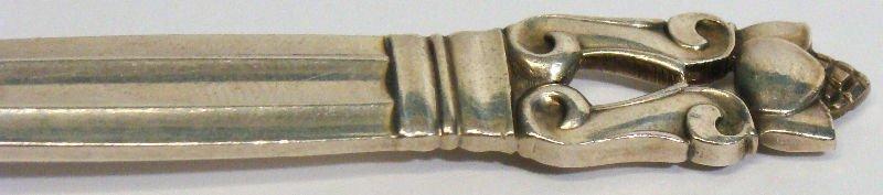 635: 92pc Georg Jensen Acorn Sterling Flatware - 9