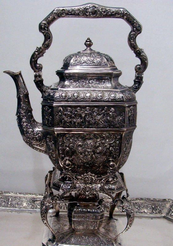 692: 7pc Sterling Silver Figural Teaset - 10