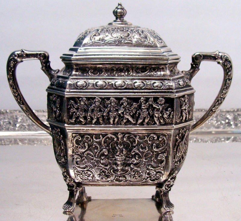 692: 7pc Sterling Silver Figural Teaset - 3