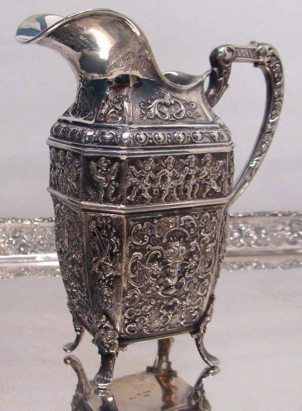 692: 7pc Sterling Silver Figural Teaset - 4