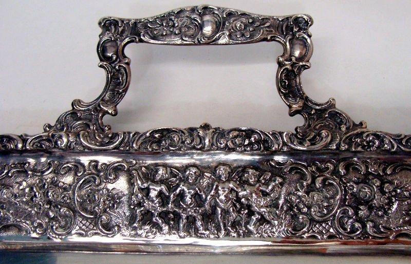 692: 7pc Sterling Silver Figural Teaset - 7