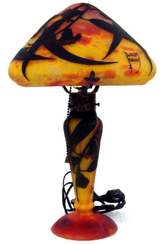 710: Daum Nancy Art Glass Cameo Lamp